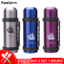 Keelorn 1000ml Vacuum Flasks Thermos Cup High Quality Stainless Steel Large Capacity Outdoor Travel Portable Thermal Cups