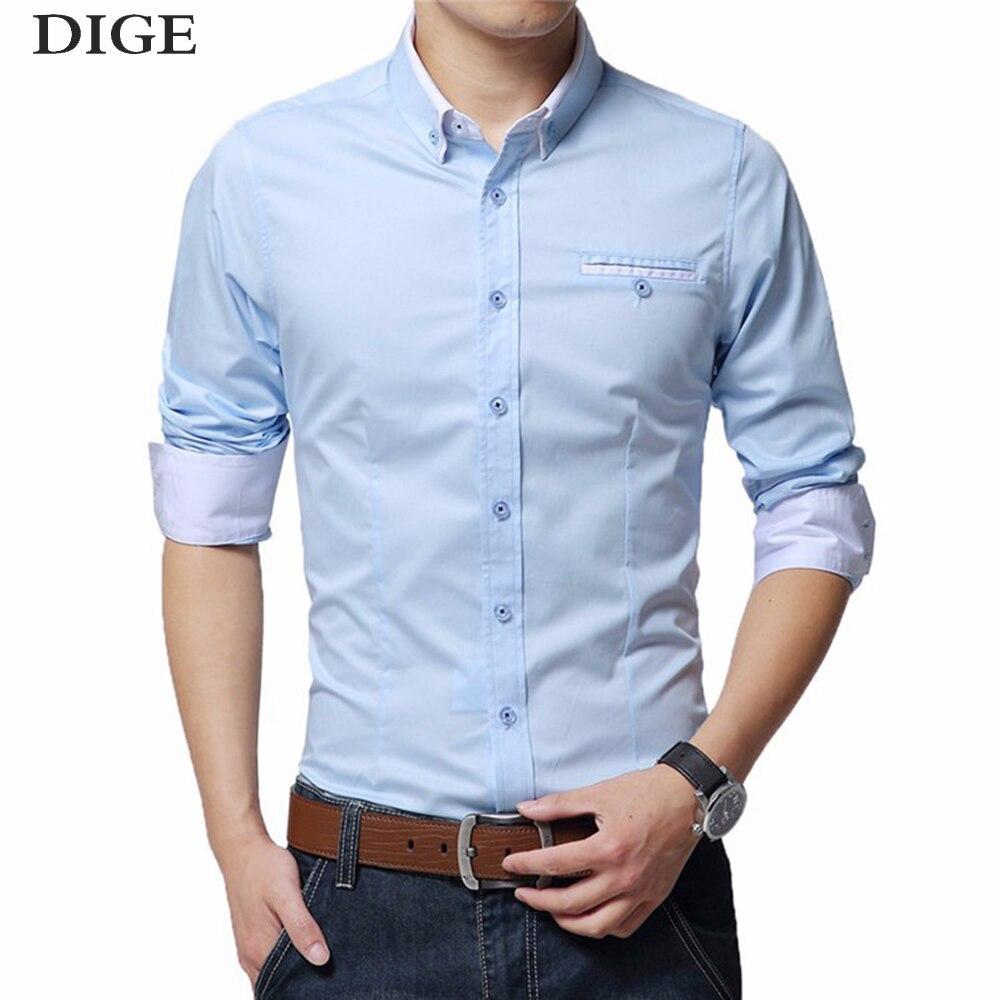 2018 Mens Wedding Shirt Long Sleeve Men Dress Shirt Business Solid