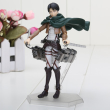 Attack on Titan Shingeki no Kyojin Rivaille Figma Levi PVC Action Figure Model (3 styles)