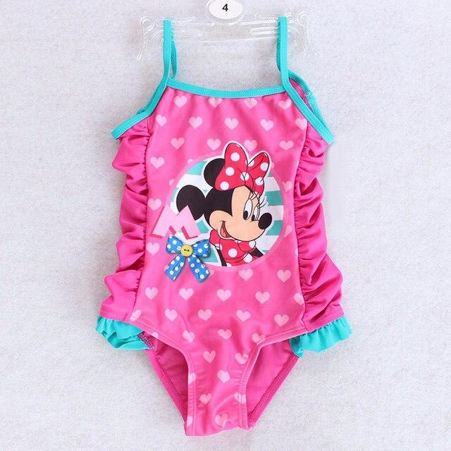 7abf9f476331 Baby Girls Swimwear Summer Kids One Piece Swimsuit Character Rose ...