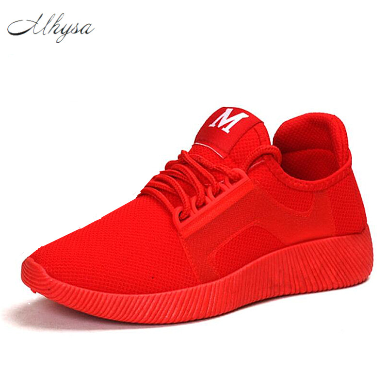 Mhysa 2018 Spring and summer  Designer Wedges Red Black Platform Sneakers Women Shoes   Casual Air Mesh Female Shoes Woman  S255