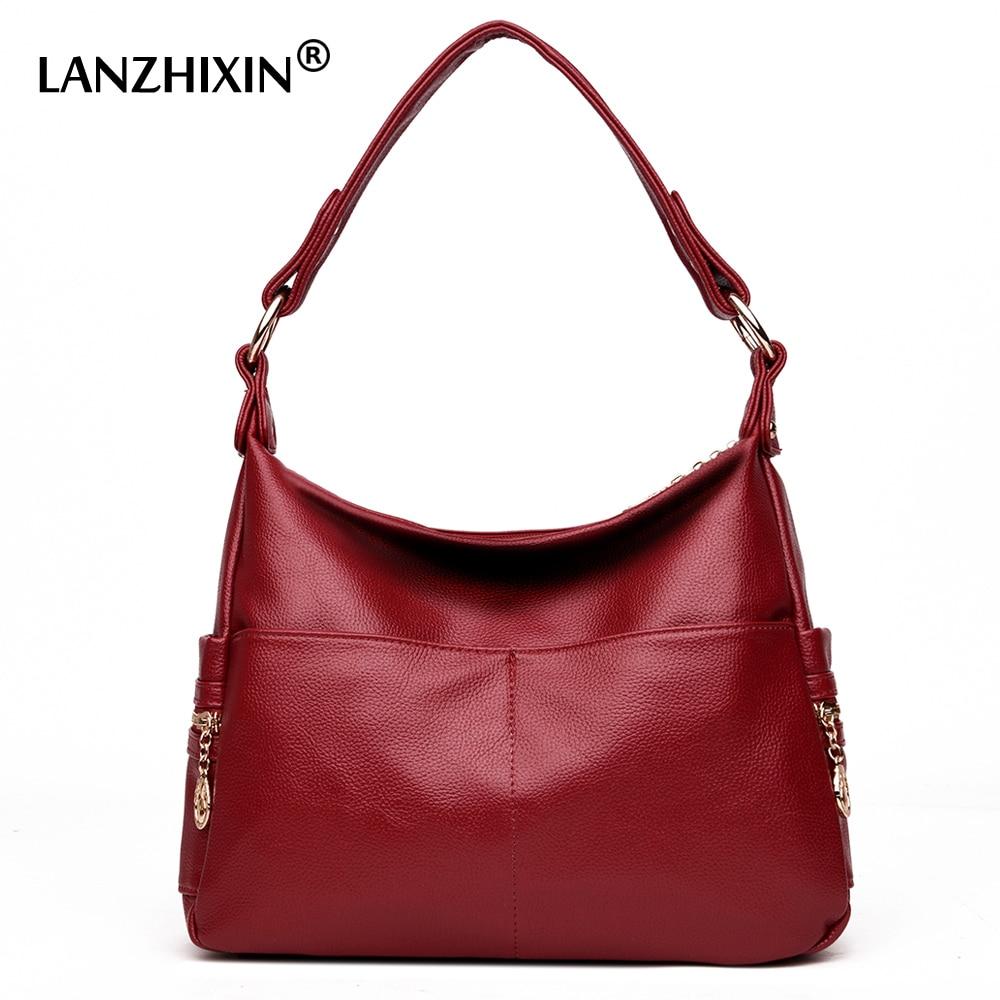 Lanzhixin Women Leather Handbags Women Messenger Bags Designer Crossbody Bag Women Tote Shoulder Bag Top-handle Bags Vintage 990