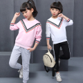 Spring Autumn Children's Sets Long Sleeves Sweatshirts&Cotton Pants Girl Clothing Sets Children Clothing Kids Clothes For Teens