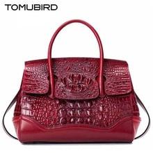 2017 new fashion crocodile pattern brand atmosphere handbag luxury Genuine Leather Platinum package Shoulder Messenger Bag