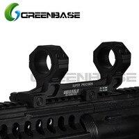Greenbase Tactical AR15 M4 M16 Ge Hunting Scope Mount Gun Rifle Optic Mount 25.4mm/30mm QD Rings Mount For 20mm Picatinny Rail