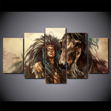 American Indian Girl and Horse Wall Pictures