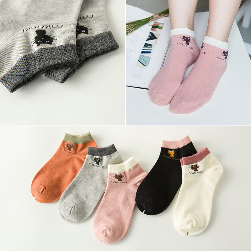 BENDU 10 Styles Women Cotton Socks Brand New 24 Colors Comfortable Breathable Fashion Style Woman Female Sock 5 Pairs/ Lot