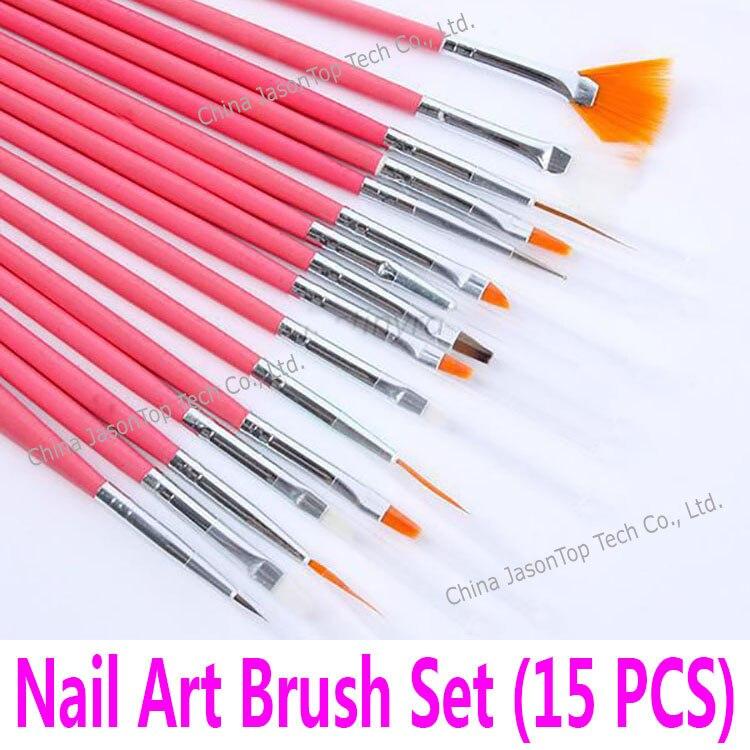 15pcs nail art decoration brush set tools professional for Avon nail decoration brush