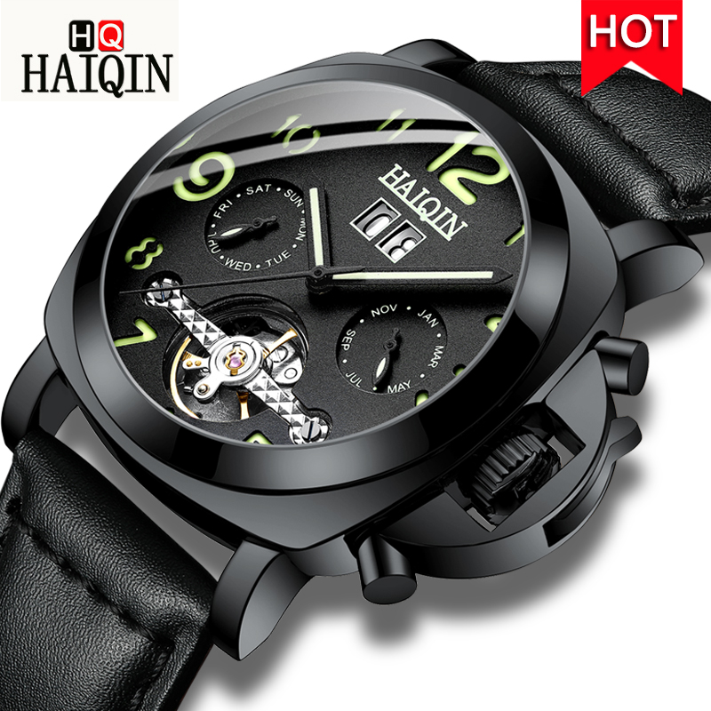 HAIQIN 2019 Mens Watches mechanical military wrist watch mens watches top brand luxury reloj hombre automatico                 HAIQIN 2019 Mens Watches mechanical military wrist watch mens watches top brand luxury reloj hombre automatico