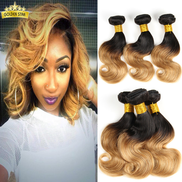 Best Selling 7a Human Hair Weavebrazilian Ombre Hair Ombre Two Tone