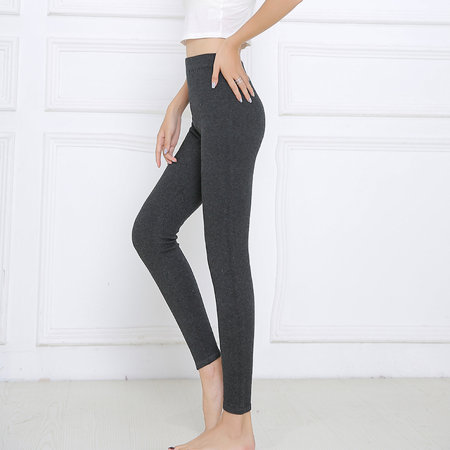 YSC 2018 winter Hot sale New style Momen Cashmere Warm Pants Knitted Long Pure color Leggings High-quality Medium thickness
