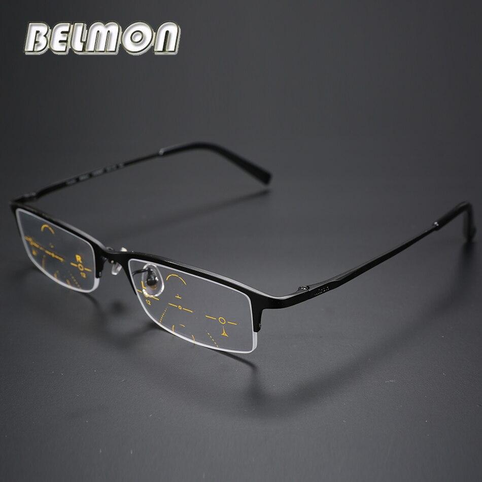 Multi focal Progressive Reading Glasses Men Titanium Frame Presbyopia Eyeglasses Male Eyewear 1 0 1 25