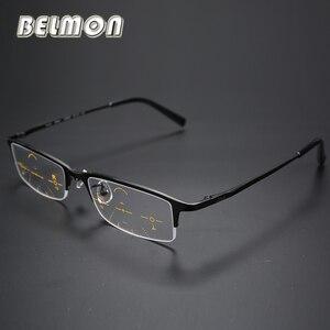 Image 1 - Multi Focale Progressieve Leesbril Mannen Titanium Frame Presbyopie Brillen Mannelijke Eyewear + 1.0 + 1.25 + 2.0 + 2.25 + 3.0 + 3.25 RS014