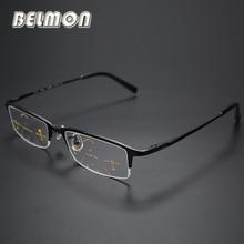 Wieloogniskowe progresywne okulary do czytania mężczyźni rama tytanowa okulary do czytania męskie okulary + 1.0 + 1.25 + 2.0 + 2.25 + 3.0 + 3.25 RS014