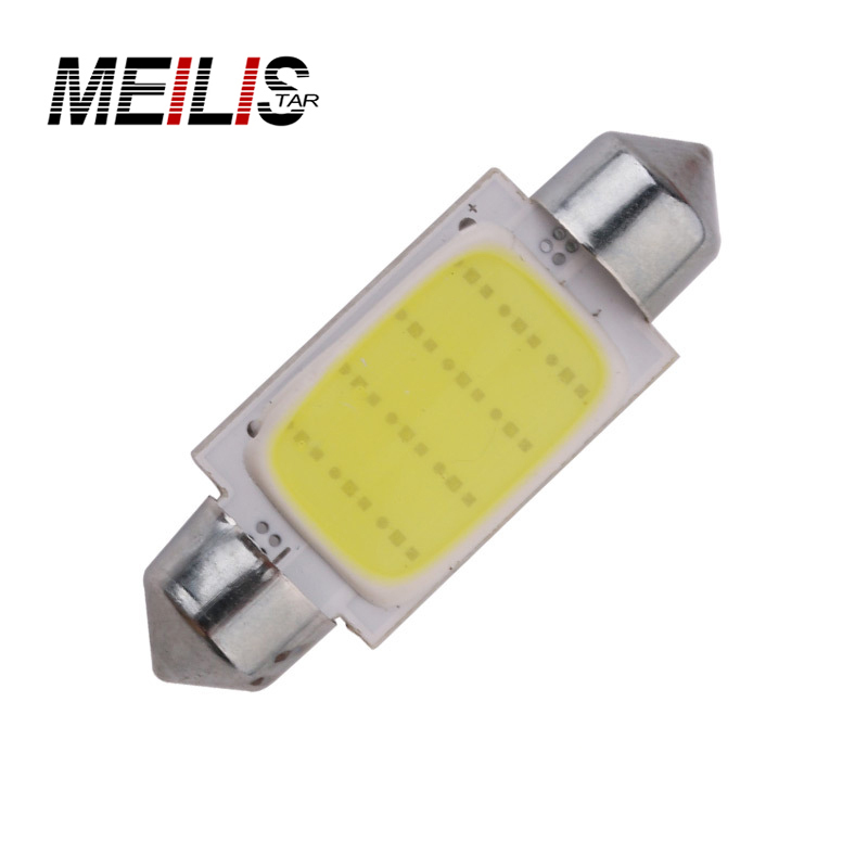 1Pcs High Quality 36mm Festoon COB 12 Chips DC 12V LED Car Dome Reading Lights Auto Interior Lamps Super Bright Bulbs Power wholesale white 12 led chips cob 2w car auto festoon dome interior led lights lamp reading bulb dc12v icarmo