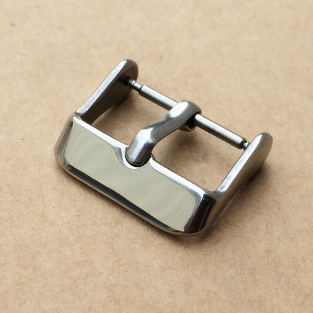 10PCS/lot watch buckle 304 Stainless steel watch buckle smooth polish with spring bar 14MM 16MM 18MM 20MM 22MM