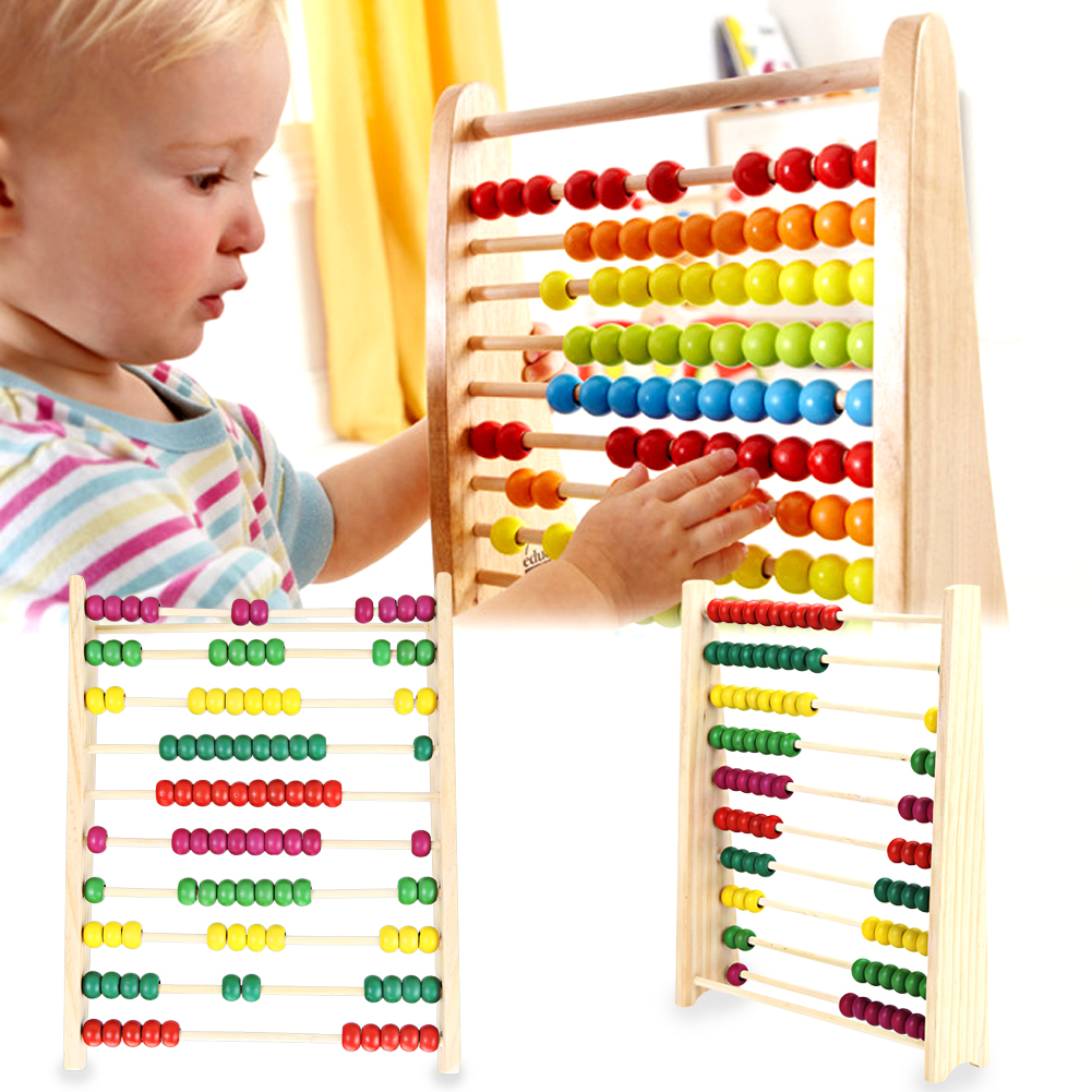 Wooden Abacus Children Kids Counting Number Maths Learning Toy Baby ...