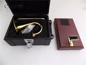 Image 5 - Bb/EINE Sopran Trompete mit mundstück Stehen Gelb messing Slide trompete musical instruments