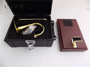 Image 5 - Bb/ソプラノトランペットとマウスピーススタンド黄色真鍮スライドトランペット楽器
