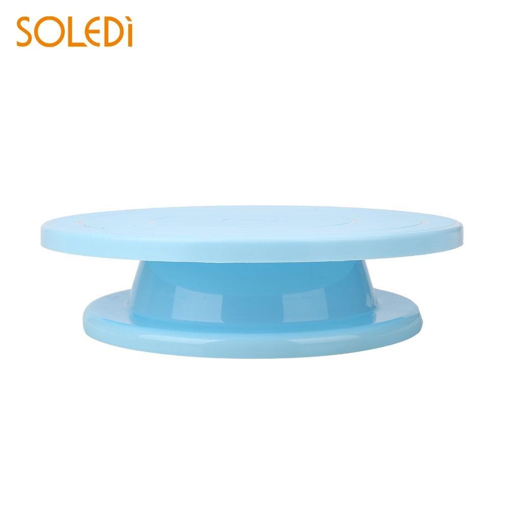Cake Revolving Stand Fondant Accessoires Decoreren Plastic Kwartelplaat Duurzaam Modelling Gereedschap Diy Platform Gebruiksvoorwerp Draaitafel