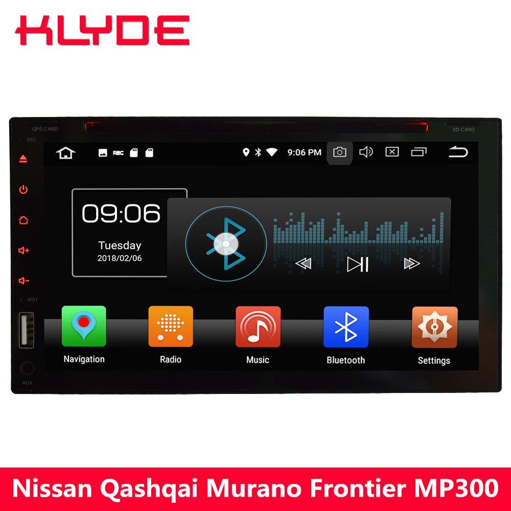 KLYDE 4g Octa base Android 8 4 gb + 32 gb 2Din Universel De Voiture Lecteur DVD Radio Pour Nissan 350Z x-trail Ensoleillé Patrouille Versa Micra NV200