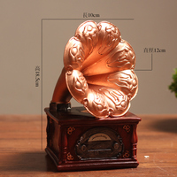 Vintage phonograph display pieces european style living room decoration model props creative arts crafts wind culpture statue