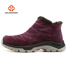 SALAMAN Womens Winter Outdoor Hiking Trekking Boots Shoes Sneakers For Women Snow Climbing Mountain Woman