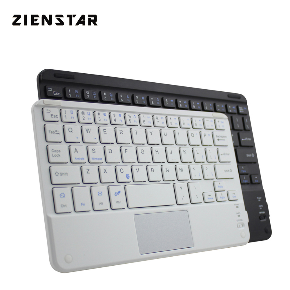 Zienstar 7inch Universal Trådløst Bluetooth-tastatur med Touchpad til SamsungTab / Microsoft / Android / Windows Tablet, laptop og pc