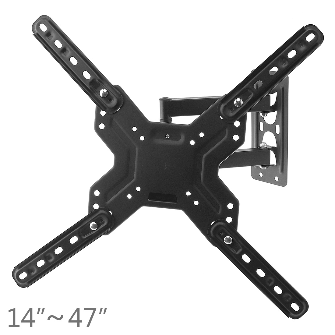 Universal 30KG Full Mount Adjustable Telescopic Revolving TV Wall Bracket for 14 - 47 Inch LED LCD Flat Panel Plasma TV Stand neewer® white pink lace protector tv cover for 37 inch led lcd plasma tv unfolded 95x12x70cm
