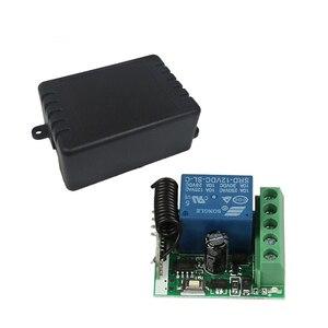 Image 5 - QIACHIP 433MHz DC 12V 1CH RF ממסר מודול האלחוטי אוניברסלי מתג בית חכם בקר מקלט עבור שער דלת