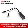 DC44-57V Divisor POE 10/100 M IEEE802.3af Power Over Ethernet Splitter Cabo 12 V 1A 13 W PoE Separador para o Sistema de Câmera IP