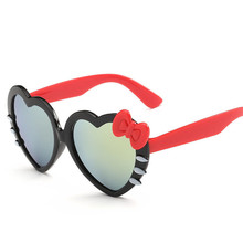 Love Shape Sunglasses Girl Boy Brand Design 2017 Bow Tie Child Sun Glasses Cute Baby Anti-uv Baby Glasses Lunettes Pour Enfants