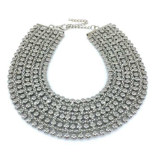 Women's Stylish Metal Statement Necklace