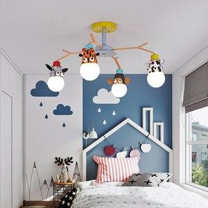Image 5 - 현대 led 샹들리에 비품 오버 헤드 조명 홈 어린이 룸 아기 소년 소녀 침실 키즈 공주 샹들리에 램프