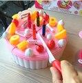 Cutting birthday cake diy fruit cake toy kitchen pretend play Frutas De Brinquedo kids Food Plastic Toy for girl cocina juguete