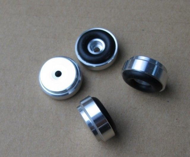 Hifi store NEW 4x Aluminum feets for Power amp (with Rubber ring) D:20mm H:9mm