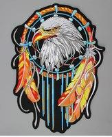 인도 자유 독수리 자수 패치 바이커