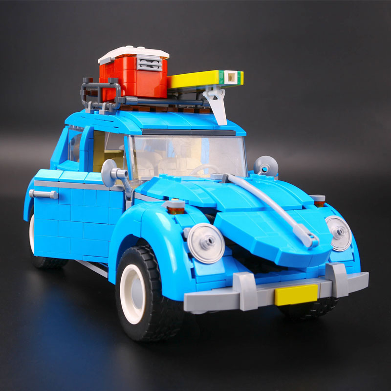 New LEPIN 21003 Series City Car Volkswagen Beetle model Building Blocks Compatible Blue Technic Car Toy 05007 Educational Gifts new lp2k series contactor lp2k06015 lp2k06015md lp2 k06015md 220v dc