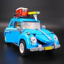 Новый Лепин 21003 серия город автомобиля Volkswagen Beetle Модель Строительство Блоки Совместимость синий техники автомобиль игрушки 05007 развивающие подарки