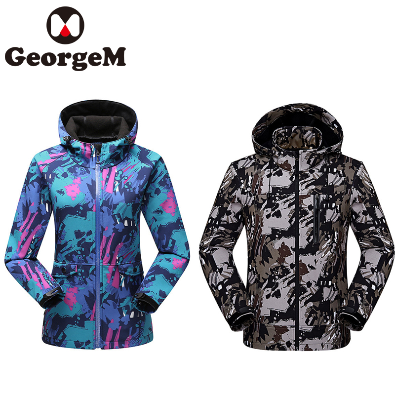 2019 New Cycling Clothing Mens Women Winter Outdoor Sports Camouflage Jacket Keep Warm Windproof Women Clothes Mountaineering