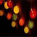 3 М 20 лампы на батарейках Рождественские огни ватным тампоном строка огни Гирлянды/свадьба свет в ночь рождество Декор
