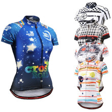 Life on track Technical Graphic Women Short Sleeves Cycling Jersey Comfortable-fitting MTB Bike Bicycle Tops Tee Shirts