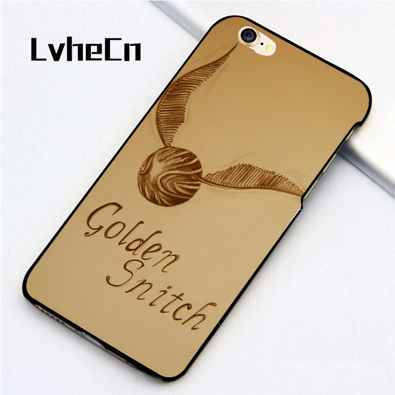 LvheCn 5 5S SE phone cover <font><b>cases</b></font> for <font><b>iphone</b></font> 6 6S 7 <font><b>8</b></font> Plus X back skin shell GOLDEN SNITCH <font><b>HARRY</b></font> <font><b>POTTER</b></font> image