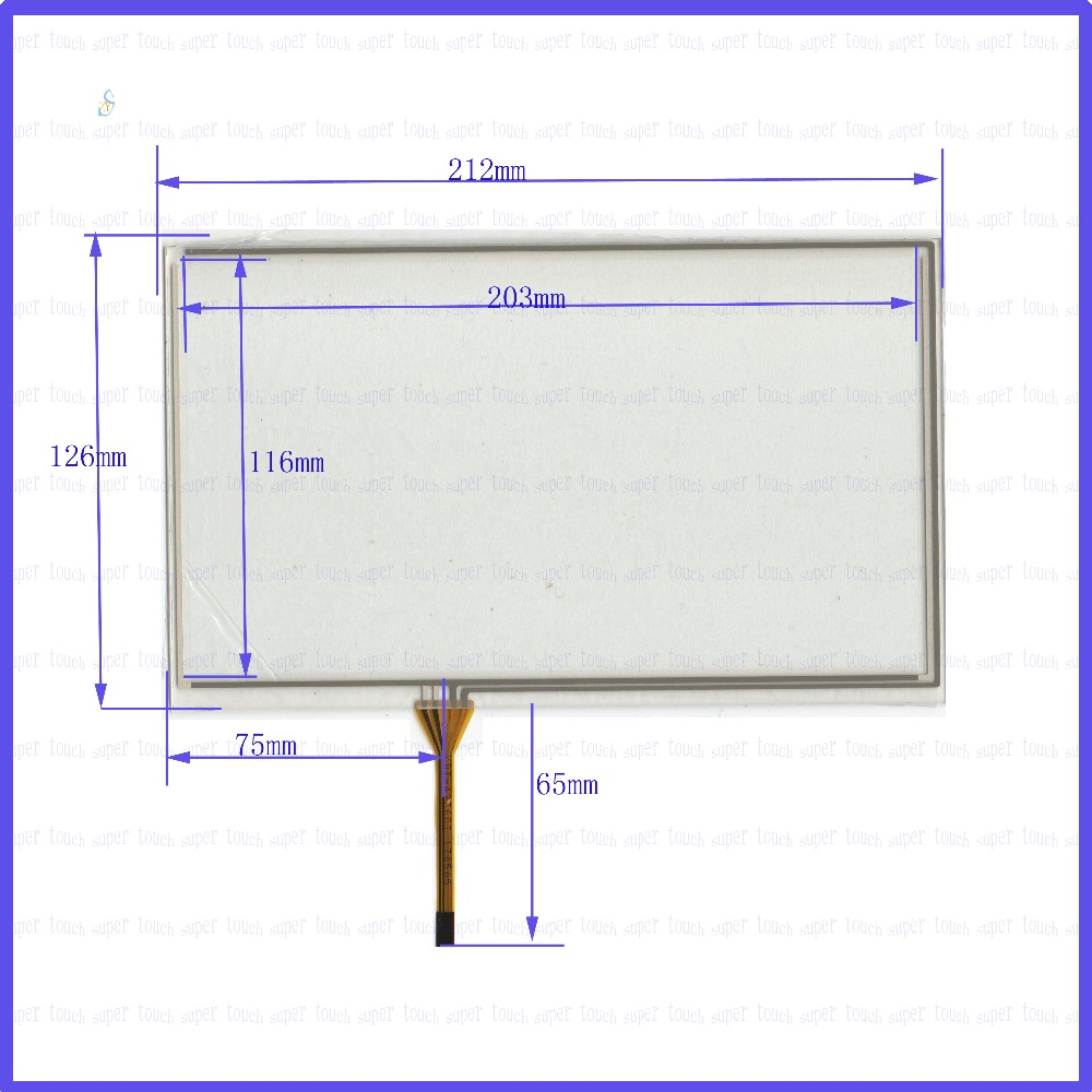 ZhiYuSun POST KDT-4236 9 inch 4-wire resistive touch panel for Car DVD, 212*126 GPS 212mm*126mm this is compatible zhiyusun 192mm 116mm kdt 6259 8inch 4 wire resistive touch panel for car dvd 192 116 gps navigator screen glass