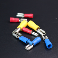 1000Pcs\/pack FDD2-250 insulating female terminal crimp connectors Quick Disconnect Wire Terminals red blue yellow