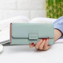 hot deal buy  new female wallet leather women wallet change long design hasp purses clutch money coin card holders wallet carteras