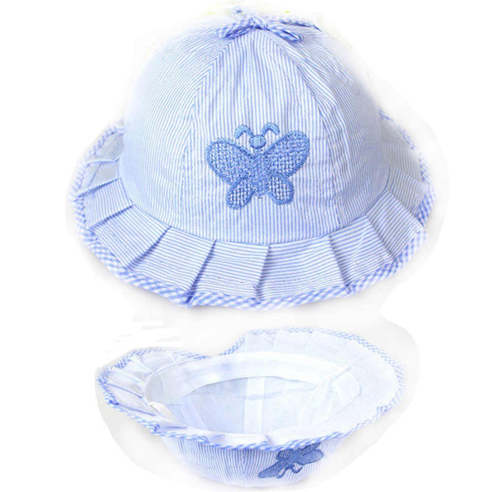 1PC Baby Hat Girl Magic Reversible Bucket Cap for 3 to 12 Months Infant Kids Girls Toddler Sun Hats Summer Flower Bow-knot Style