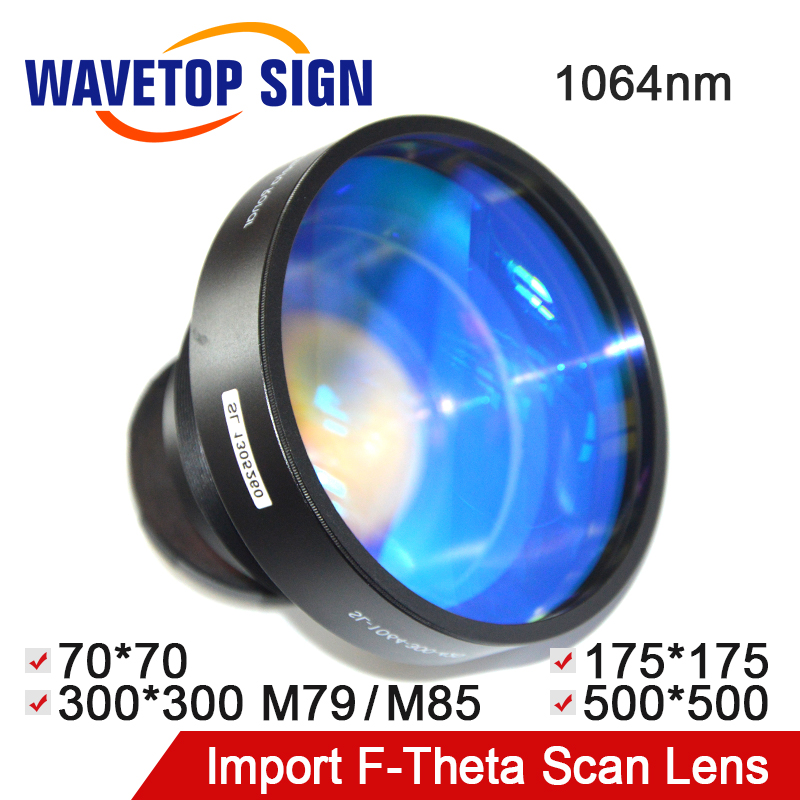 Lentille de balayage de Laser de Fiber de signe d'onde lentille de f-theta 1064nm utilisation pour la Machine de marquage de Laser de Fiber