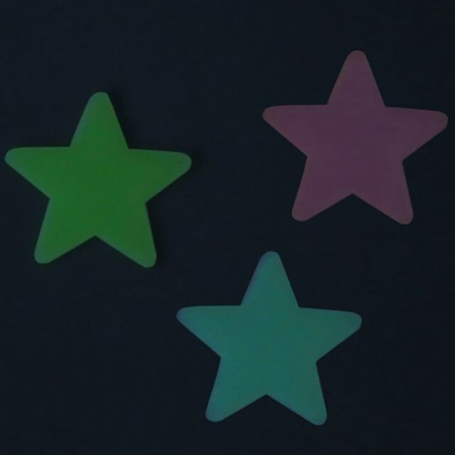 New 100pcs DIY Colorful Luminous Star Patch Wall Stickers Fluorescent Glow In The Dark Baby Kids Bedroom Decal Stars Home Decor