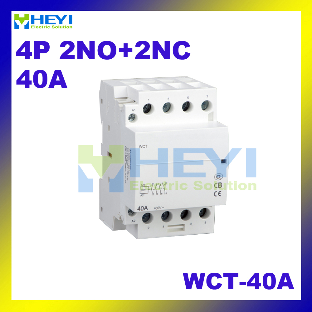 4pole 2NO+2NC 220VAC 50Hz WCT 40A voltage protector din rail mini household  ac contactor-in Contactors from Home Improvement on Aliexpress.com |  Alibaba ...